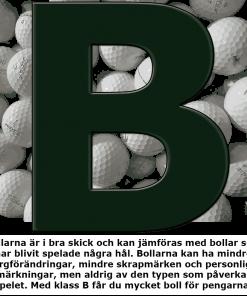 Golfbollar i B-klass